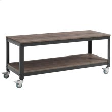 Vivify Tiered Serving or TV Stand in Gray Walnut
