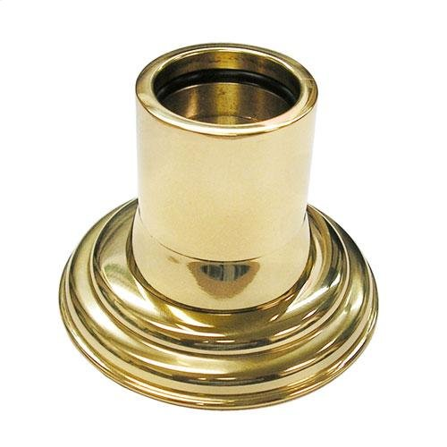 Shower Rod Flange - Polished Brass