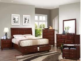 Portsmouth K. Storage Footboard/drw