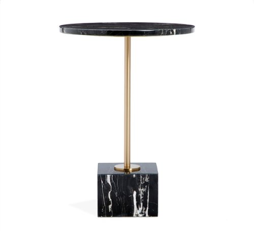 Rian Marble Side Table - Nero Storm