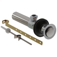 Chrome Metal Drain Assembly - Less Lift Rod - Bathroom
