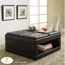 Coffee/Ottoman Table on casters with Flip Trays
