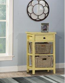 Tuscan Retreat® 2 Basket 1 Drawer Open Side Stand - Calypso Yellow