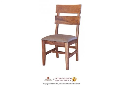 Chair with Faux Leather seat**