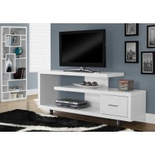 """TV STAND - 60""""L / WHITE WITH 1 DRAWER"""