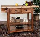 Butcher Block Table W/ Drop Leaf Product Image