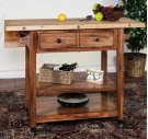 Butcher Block Table W/ Drop Leaf Product Image
