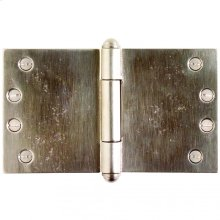 """Butt Hinge (wide throw) - 4"""" x 7"""" Silicon Bronze Brushed"""