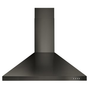 "WHIRLPOOL30"" Contemporary Black Stainless Wall Mount Range Hood"