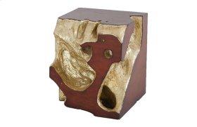 Freeform Stool Gold Leaf, Faux Bois, SM