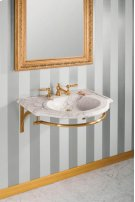Petite Renaissance Wall Brackets With Towel Bar / Brass Product Image