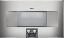 "400 Series Combi-steam Oven Stainless Steel-backed Full Glass Door Controls At the Bottom Width 30"" (76 Cm) Left-hinged"