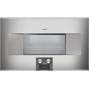 Gaggenau400 Series Combi-steam Oven 76 Cm Stainless Steel Behind Glass, Door Hinge: Left, Door Hinge: Left