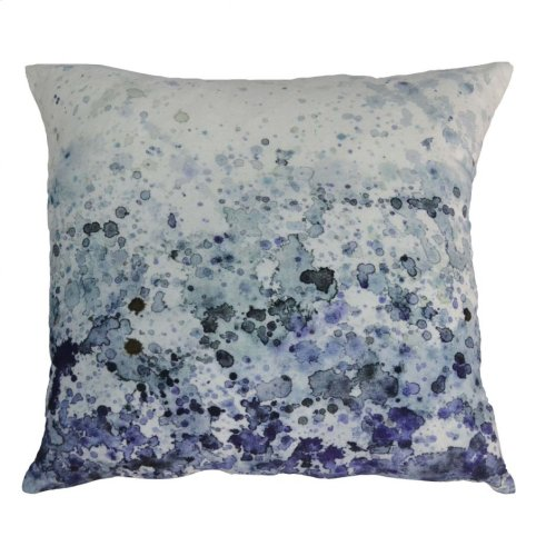 Sea Spray Velvet Feather Cushion 25x25