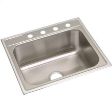 "Dayton Stainless Steel 25"" x 22"" x 10-1/4"", Single Bowl Drop-in Sink"