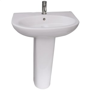 Infinity 600 Pedestal Lavatory - White Product Image
