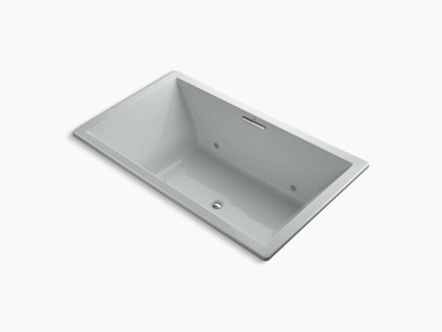 """Ice Grey 72"""" X 42"""" Drop-in Vibracoustic + Bubblemassage Air Bath With Bask Heated Surface and Chromatherapy and Center Drain"""