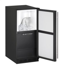 "1000 Series 15"" Clear Ice Machine With White Solid Finish and Field Reversible Door Swing"