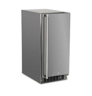 """15"""" Outdoor Crescent Ice Machine - Solid Stainless Steel Door - Right Hinge"""