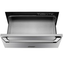 "Heritage 27"" Epicure Warming Drawer, in Black Glass with Black Handle and End Caps"