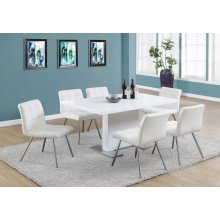 """DINING TABLE - 35""""X 60"""" / HIGH GLOSSY WHITE"""