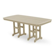 "Sand Nautical 37"" x 72"" Dining Table"