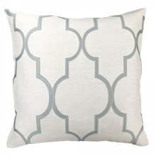 Paxton Contemporary Decorative Feather and Down Throw Pillow In Sea Foam Jacquard Fabric