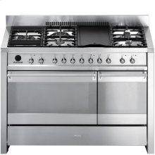 "Free-standing Dual Fuel Dual Cavity ""Opera"" Range Approx. 48"" Stainless Steel Gas Rangetop With Electric Grill"