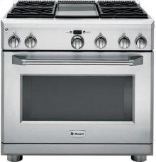 "GE Monogram® 36"" Dual-Fuel Professional Range with 4 Burners and Griddle (Liquid Propane)"