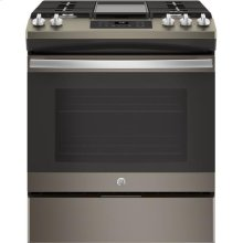 Slide-In Front Control, Premium Slate Appearance, 5.4 cu. Ft. Steam Clean