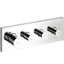 Chrome ShowerCollection Thermostatic Module Trim with Volume Controls