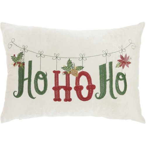 """Home for the Holiday L1775 Beige 12"""" X 18"""" Throw Pillow"""