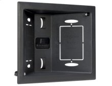 Black In-Wall Low Voltage Box; Routes low voltage cables through wall for a flawless installation