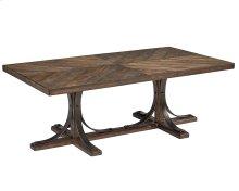Shop Floor Iron Trestle Coffee Table