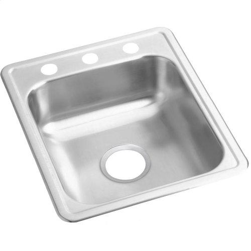 "Dayton Stainless Steel 17"" x 21-1/4"" x 6-1/2"", Single Bowl Drop-in Bar Sink"
