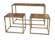 Beth Kushnick Marble Top Console and Tables - Set of 3 Product Image