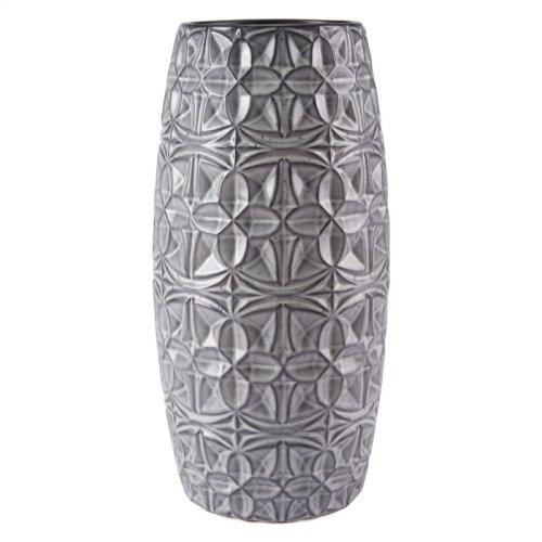 Tupi Round Vase Lg Gray
