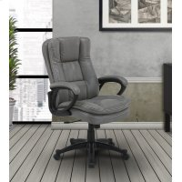 DC#204 Fog Fabric Desk Chair Product Image