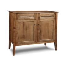 Stockholm Sideboard w/2 Wood Doors & 2/Dwrs & 1/Wood Adjust.