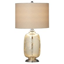 Etched Flower Table Lamp. 60W Max.
