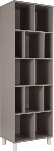 """Montclair Collection 72.75""""H 12 Compartment Shelf Bookcase in Gray Finish"""