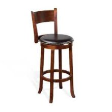 "30""H Cappuccino Swivel Barstool w/ Cushion Seat"