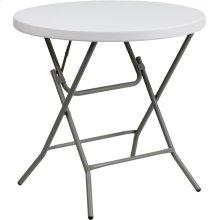 32'' Round Granite White Plastic Folding Table