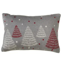 Mod Tree Lumbar Knit Pillow.