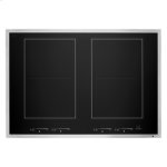 "Jenn-AirLustre Stainless 30"" Induction Flex Cooktop"