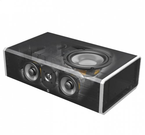 High-Performance Center Channel Speaker with Integrated 8 inch Powered Subwoofer