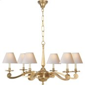 Visual Comfort AH5010NB-NP Alexa Hampton Myrna 6 Light 33 inch Natural Brass Chandelier Ceiling Light
