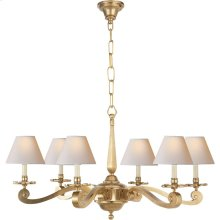 Visual Comfort AH5010NB-NP Alexa Hampton Myrna 6 Light 33 inch Natural Brass Chandelier Ceiling Light