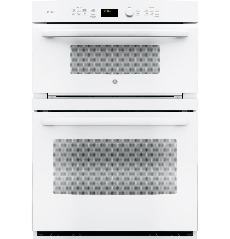 "GE Profile(TM) Series 30"" Built-In Combination Convection Microwave/Convection Wall Oven