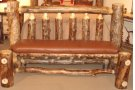 Branded Leather Bench Product Image